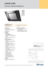 Product informatie BAUKNECHT afzuigkap zwart DWGR6780