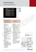 Product informatie BAUKNECHT combi stoomoven ECTM8145SW