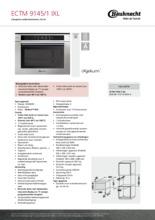 Product informatie BAUKNECHT combi stoomoven ECTM 9145/1 IXL