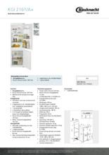 Product informatie BAUKNECHT koelkast inbouw KGI2161/A+