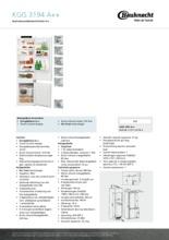 Product informatie BAUKNECHT koelkast inbouw KGIS3194/A++