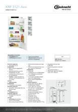 Product informatie BAUKNECHT koelkast inbouw KRIF3121/A++