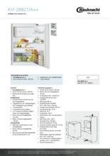 Product informatie BAUKNECHT koelkast inbouw KVI28821/A++
