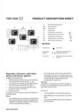 Product informatie BAUKNECHT kookplaat gas/op/glas TGV3520/3SW