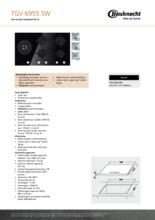 Product informatie BAUKNECHT kookplaat gas-op-glas TGV6955SW