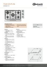 Product informatie BAUKNECHT kookplaat inbouw TGW6575IN