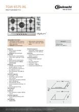 Product informatie BAUKNECHT kookplaat inbouw TGW6575IXL