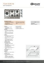 Product informatie BAUKNECHT kookplaat inbouw TGW6595IN