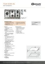 Product informatie BAUKNECHT kookplaat inbouw TGW6595IXL