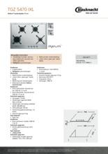 Product informatie BAUKNECHT kookplaat inbouw TGZ5470IXL