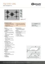 Product informatie BAUKNECHT kookplaat inbouw TGZ5757C-IXL