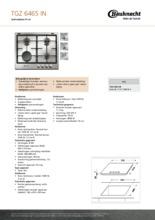 Product informatie BAUKNECHT kookplaat inbouw TGZ6465IN