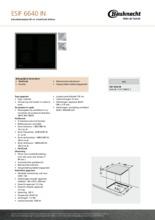 Product informatie BAUKNECHT kookplaat inductie ESIF6640IN