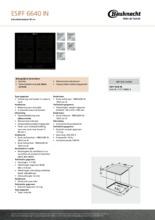 Product informatie BAUKNECHT kookplaat inductie ESIFF6640IN