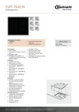 Product informatie BAUKNECHT kookplaat inductie ESIFF7640IN