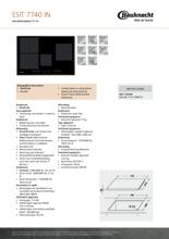 Product informatie BAUKNECHT kookplaat inductie ESIT7740IN
