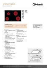 Product informatie BAUKNECHT kookplaat keramisch ETCV8740IN
