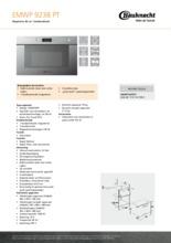 Product informatie BAUKNECHT magnetron inbouw EMWP9238PT