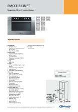 Product informatie BAUKNECHT magnetron met grill EMCCE8138PT
