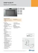 Product informatie BAUKNECHT magnetron met stoom EMSP9238PT