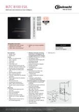 Product informatie BAUKNECHT oven inbouw BLTC8100ES L
