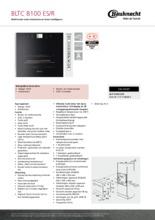 Product informatie BAUKNECHT oven inbouw BLTC8100ES R
