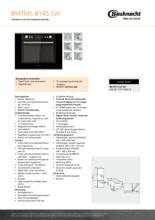 Product informatie BAUKNECHT oven met magnetron BMTMS8145SW