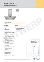 Product informatie BAUKNECHT schachtdeel tbv afzuigkap AMC120