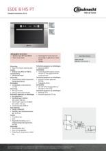 Product informatie BAUKNECHT stoomoven ESDE8145PT