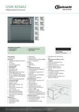 Product informatie BAUKNECHT vaatwasser besteklade GSXK8254A2