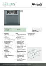 Product informatie BAUKNECHT vaatwasser inbouw GSXK5104A2