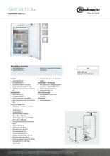Product informatie BAUKNECHT vrieskast inbouw GKIE2873A+