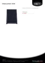 Product informatie BORETTI grillplaat geribbeld GPD BAC99