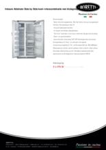 Product informatie BORETTI koelkast Abbinato GK