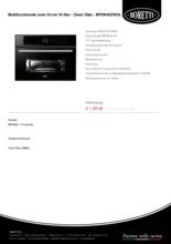 Product informatie BORETTI oven inbouw BPON45ZWGL