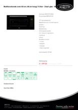 Product informatie BORETTI oven inbouw BPON90ZWGL