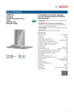 Product informatie BOSCH afzuigkap eiland DIB091U52