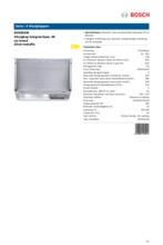 Product informatie BOSCH afzuigkap geintegreerd DHE655M