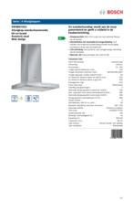 Product informatie BOSCH afzuigkap wand DWB067A51