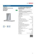 Product informatie BOSCH afzuigkap wand DWB097A51