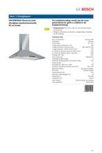 Product informatie BOSCH afzuigkap wand DWW09W650