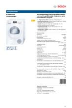 Product informatie BOSCH droger condens WTB86222NL