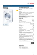 Product informatie BOSCH droger condens WTE861S2NL