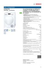 Product informatie BOSCH droger warmtepomp WTW83272NL