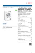 Product informatie BOSCH droger warmtepomp WTW85495NL