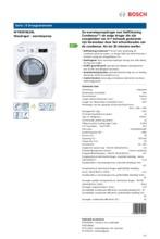 Product informatie BOSCH droger warmtepomp WTW87562NL