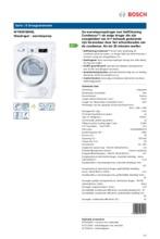 Product informatie BOSCH droger warmtepomp WTW87590NL