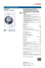 Product informatie BOSCH droger warmtepomp WTY87700NL
