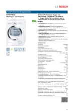 Product informatie BOSCH droger warmtepomp WTY87791NL