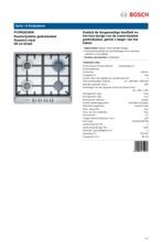 Product informatie BOSCH gaskookplaat PCP6E5C90N